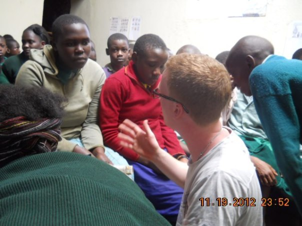 Norwegian intercultural Student, sharing with the pupils at Adventure  his experience