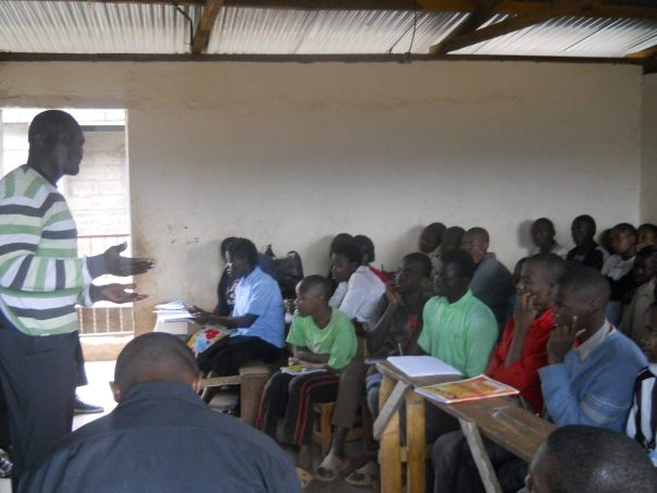 Joseph Oduor during a mentorship session. He is an accounts student at U.S.I.U