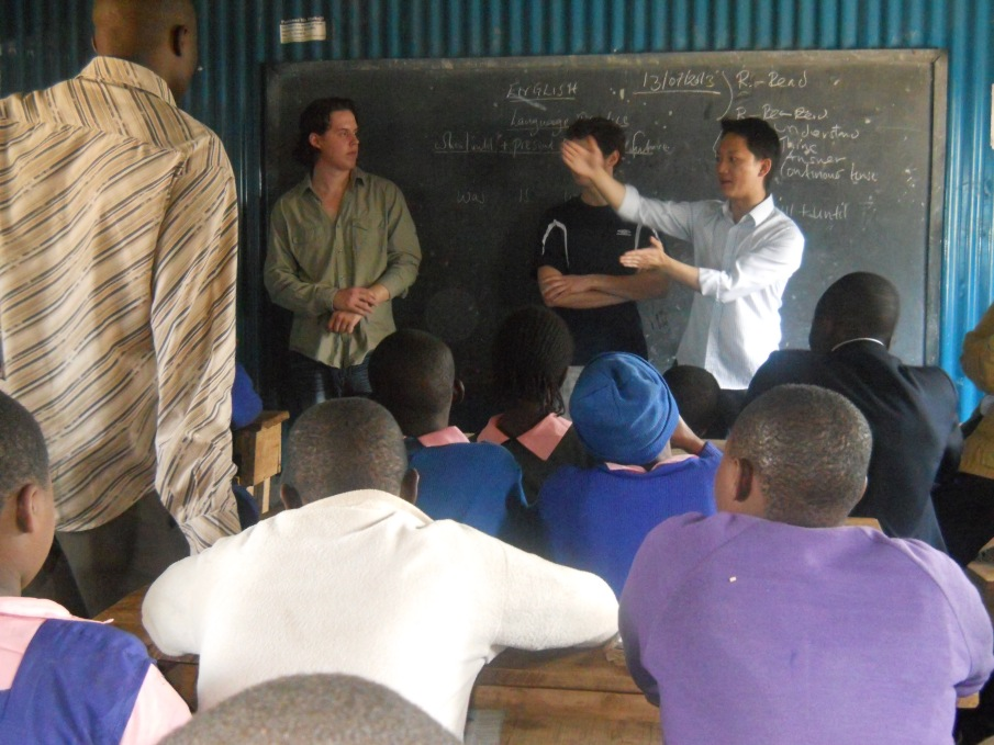 Mike and Joash Mentoring at the makina self help school